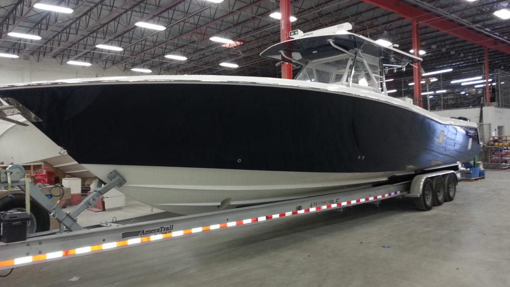 black-matte-yacht-vinyl-wrap-fort-lauderdale