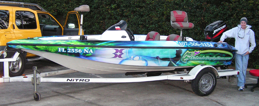 Custom Graphics  Vinyl Wraps Boat Wraps Florida - Vinyl fish decals for boats