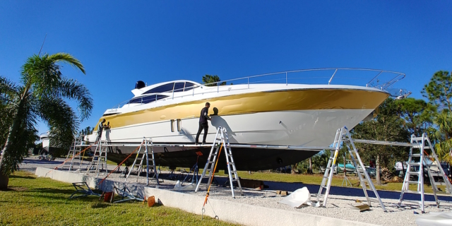 gold-vinyl-boat-wrap-florida